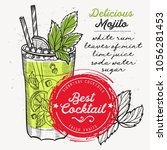 cocktail mojito for bar menu....   Shutterstock .eps vector #1056281453