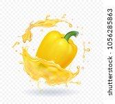 vector yellow sweet bulgarian... | Shutterstock .eps vector #1056285863