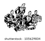 musical group   retro clipart... | Shutterstock .eps vector #105629834