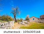 beautiful old house in peleta... | Shutterstock . vector #1056305168