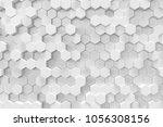 white geometric hexagonal... | Shutterstock . vector #1056308156
