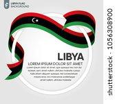 libya flag background | Shutterstock .eps vector #1056308900