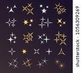 sparkle lights stars set.... | Shutterstock .eps vector #1056309269