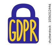 gdpr or general data protection ... | Shutterstock .eps vector #1056312446