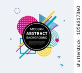 modern abstract geometric... | Shutterstock .eps vector #1056317360
