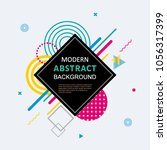 modern abstract geometric... | Shutterstock .eps vector #1056317399