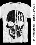 skull tee graphic design | Shutterstock .eps vector #1056319316