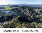 aerial view of lake sherwood ... | Shutterstock . vector #1056322826