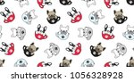 dog seamless pattern french... | Shutterstock .eps vector #1056328928