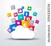 vector illustration of cloud...   Shutterstock .eps vector #1056330236