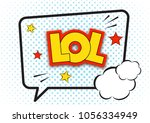lol comic pop art speech bubble ...   Shutterstock .eps vector #1056334949