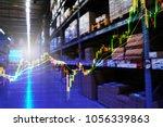 double exposure of stock... | Shutterstock . vector #1056339863