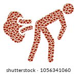 fart gases mosaic of tomato...   Shutterstock .eps vector #1056341060