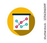 graph icon. vector business... | Shutterstock .eps vector #1056346049