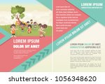 template for advertising... | Shutterstock .eps vector #1056348620