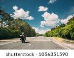 rider on motorbike  motorcycle...   Shutterstock . vector #1056351590