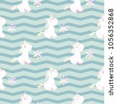 cute unicorn pattern magic baby ... | Shutterstock .eps vector #1056352868