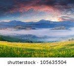 summer landscape with a... | Shutterstock . vector #105635504