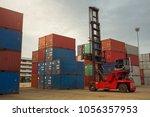 container. crane lifter... | Shutterstock . vector #1056357953
