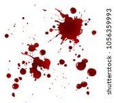 realistic bloody splatters.... | Shutterstock .eps vector #1056359993