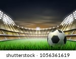 football soccer stadium tribune ... | Shutterstock .eps vector #1056361619