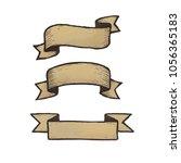ribbon vintage for banner ... | Shutterstock . vector #1056365183