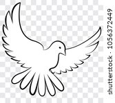white dove on a transparent...   Shutterstock .eps vector #1056372449