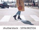 street style portrait of an... | Shutterstock . vector #1056382526