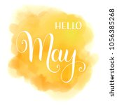 hello may lettering. elements... | Shutterstock .eps vector #1056385268