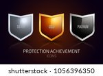 a set of silver  gold and... | Shutterstock .eps vector #1056396350