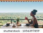 young woman enjoy healthy...   Shutterstock . vector #1056397859