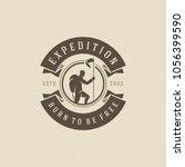 climber logo emblem vector... | Shutterstock .eps vector #1056399590