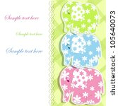 baby card with elephants   Shutterstock .eps vector #105640073