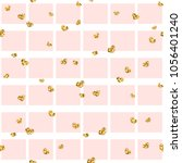 gold heart seamless pattern.... | Shutterstock .eps vector #1056401240