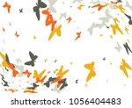 festive butterfly confetti... | Shutterstock .eps vector #1056404483