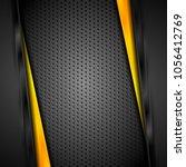 abstract dark corporate yellow... | Shutterstock .eps vector #1056412769