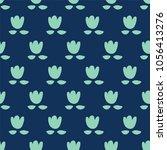 seamless pattern  flower art ... | Shutterstock .eps vector #1056413276