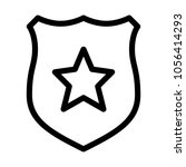 cop star badge | Shutterstock .eps vector #1056414293