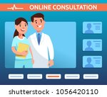 vector illustration doctors... | Shutterstock .eps vector #1056420110