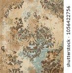 vector damask pattern element.... | Shutterstock .eps vector #1056422756
