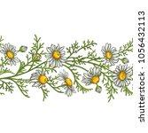 chamomile flower vector pattern   Shutterstock .eps vector #1056432113