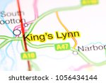Small photo of King's Lynn. United Kingdom on a map
