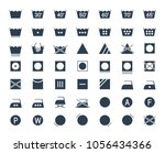 icon set of laundry and textile ... | Shutterstock .eps vector #1056434366