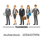 business people teamwork ... | Shutterstock .eps vector #1056437096