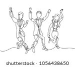 continuous line drawing of... | Shutterstock . vector #1056438650