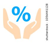 discount percent with hand icon.   Shutterstock .eps vector #1056441128