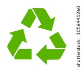 recycling symbol icon | Shutterstock .eps vector #1056441260