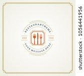 restaurant logo template vector ... | Shutterstock .eps vector #1056441956
