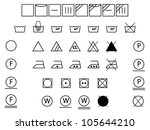 laundry symbols for washing... | Shutterstock .eps vector #105644210