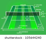 tennis court with dimensions ... | Shutterstock .eps vector #105644240